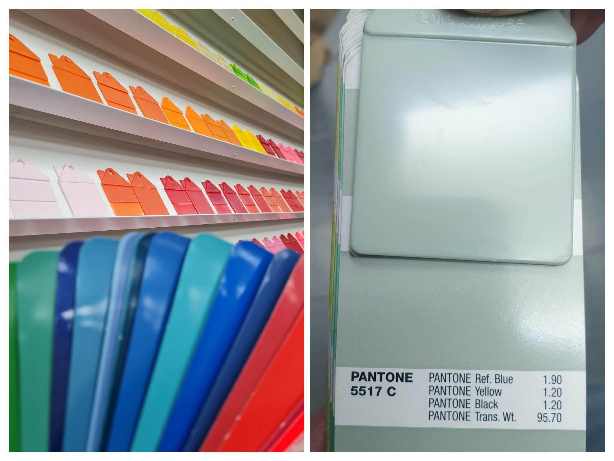 Pantone / Ral Colour Chart